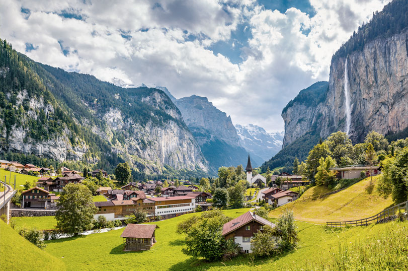 Switzerland valley view