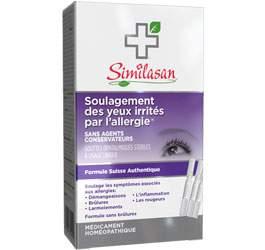 Soulagement des yeux irrités par l'allergie
